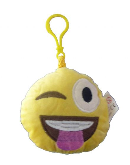 Emoji Winking Tongue Out Plush